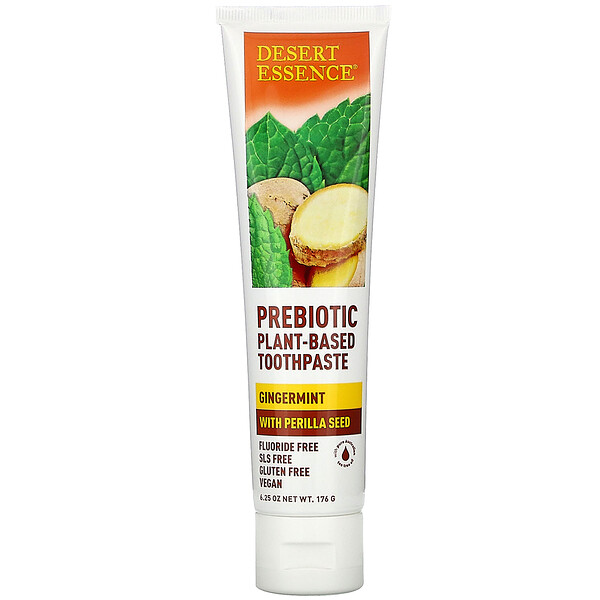 Prebiotic, Plant-Based Toothpaste, Gingermint,  6.25 oz (176 g)