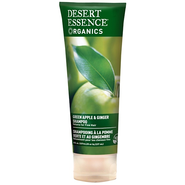 Desert Essence, Organics, Green Apple & Ginger Shampoo, 8 fl oz (237 ml)