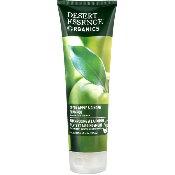 Desert Essence, Organics, Shampoo, Green Apple & Ginger, 8 fl oz (237 ml)