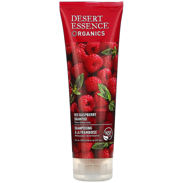 Desert Essence, Organics, Shampoo, Red Raspberry, 8 fl oz (237 ml)