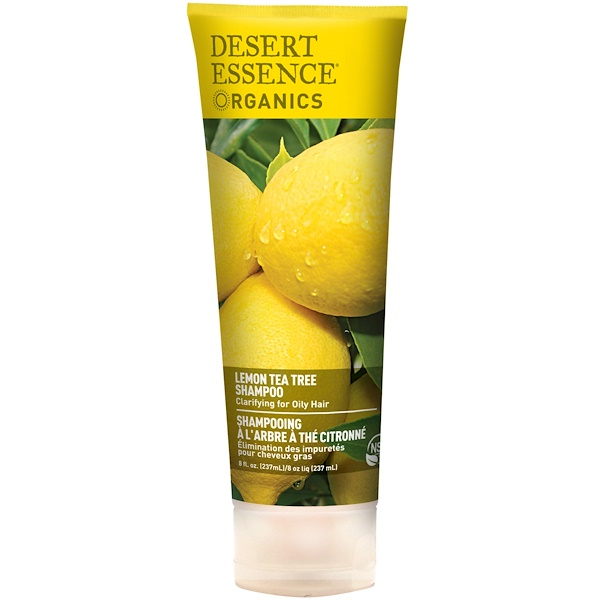 Desert Essence, Organics, Shampoo, Lemon Tea Tree, 8 fl oz (237 ml)