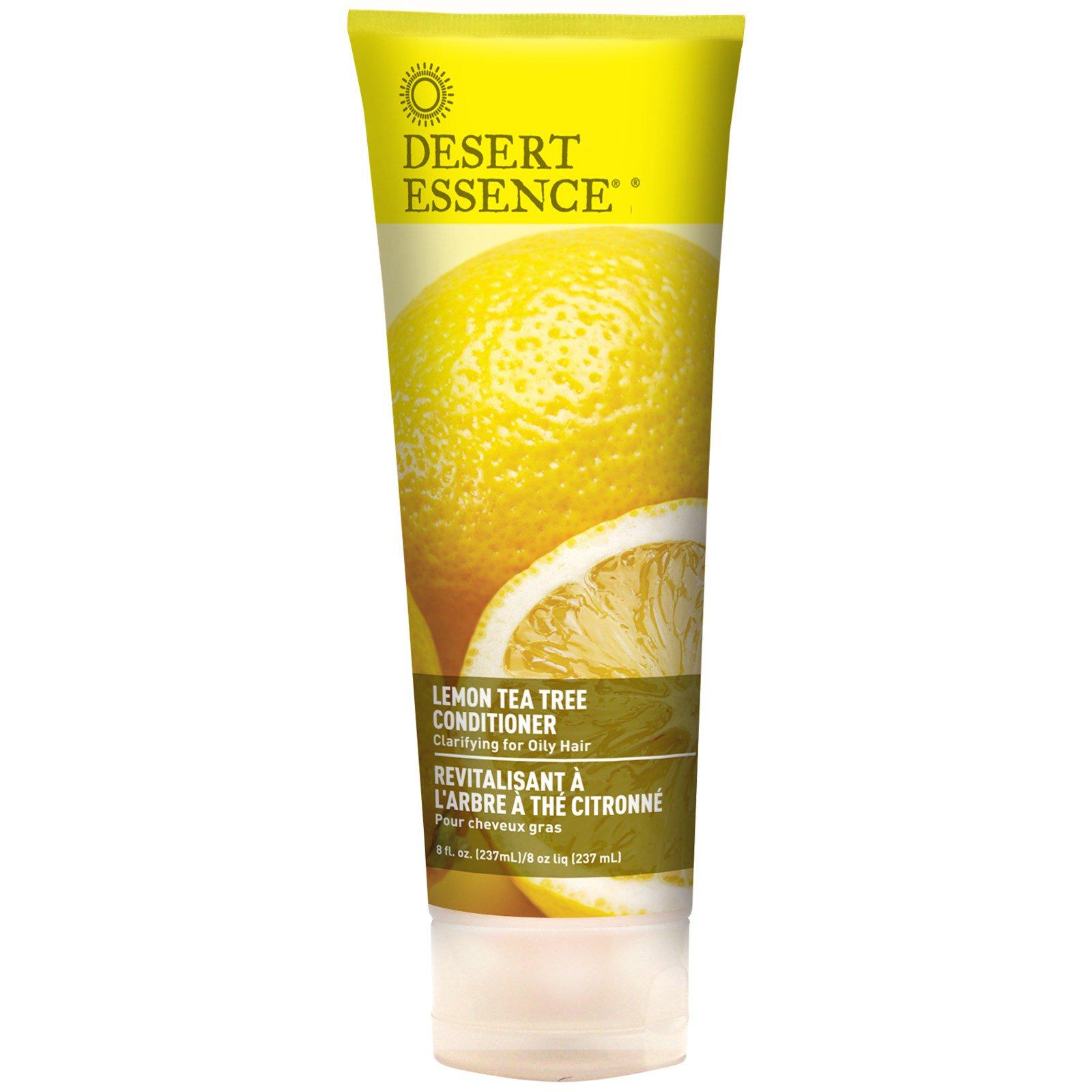 Desert Essence, Organics, Уход за волосами, Кондиционер с ароматом лемона и чайного  дерева, 8 жидких унций (237 мл)