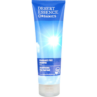 Desert Essence, Organics, Shampoo, Fragrance Free, 8 fl oz (237 ml)