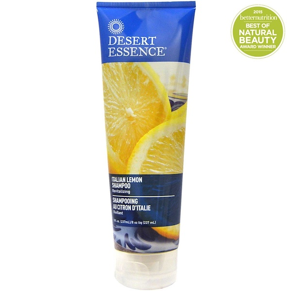 Desert Essence, Italian Lemon Shampoo, Revitalizing, 8 fl oz (237 ml)