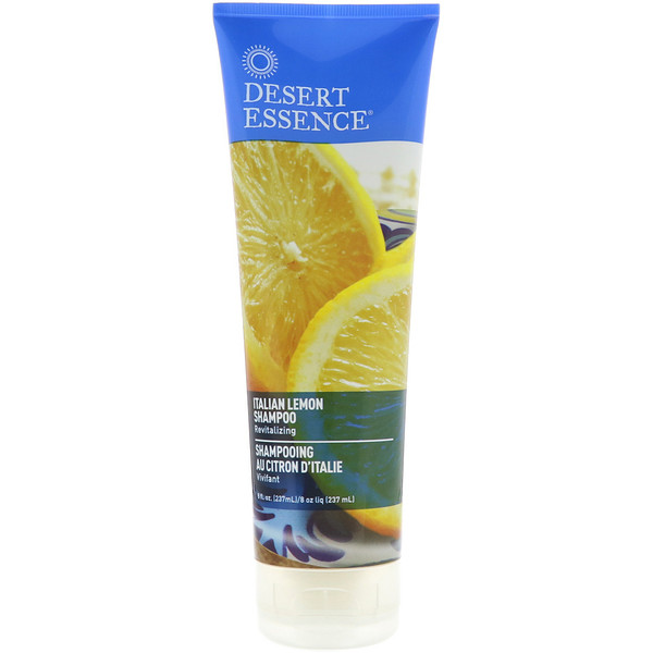 Desert Essence, Shampoo, Italian Lemon, 8 fl oz (237 ml)