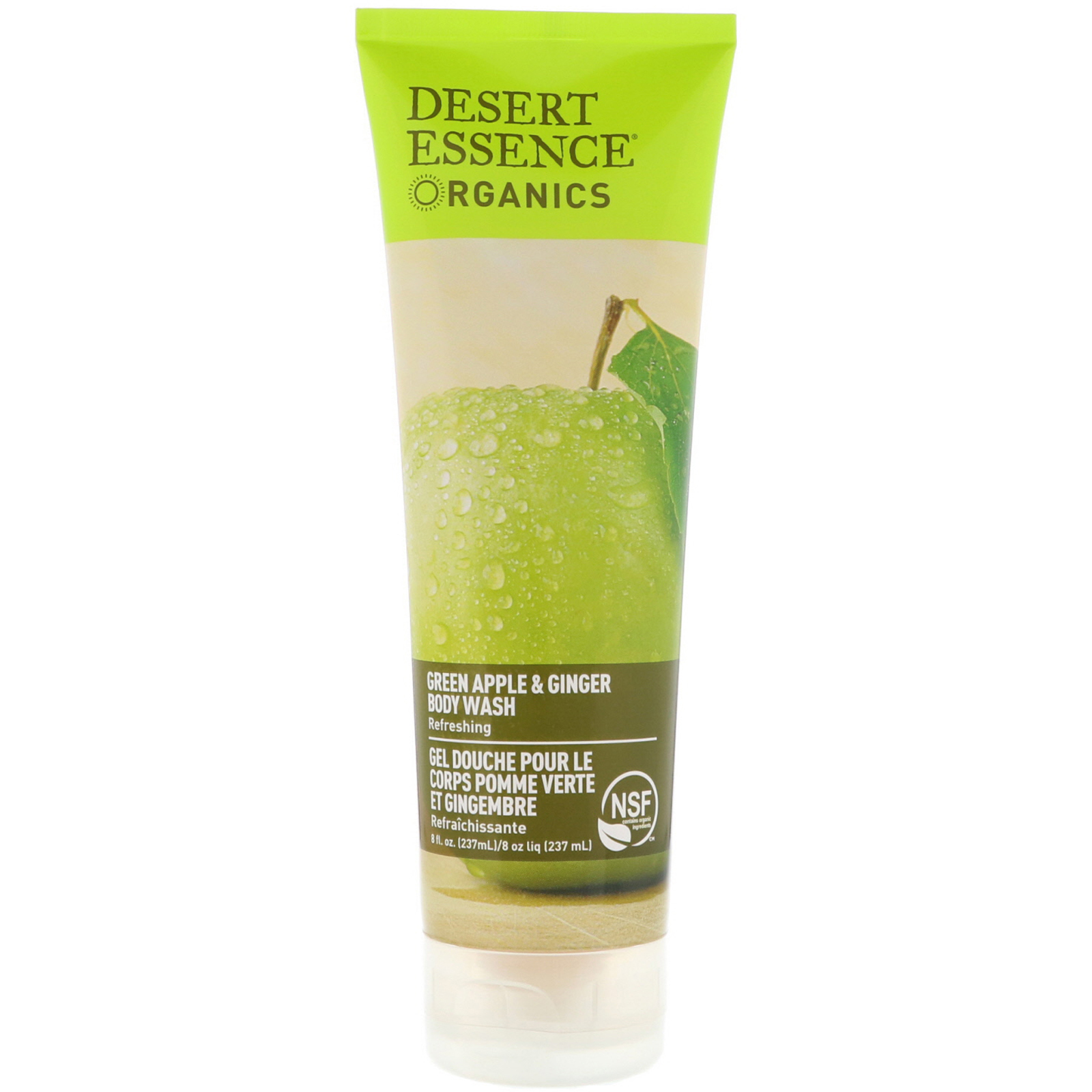 Desert Essence Organics Body Wash Green Apple Ginger 8 Fl Oz Aromatherapy Orange