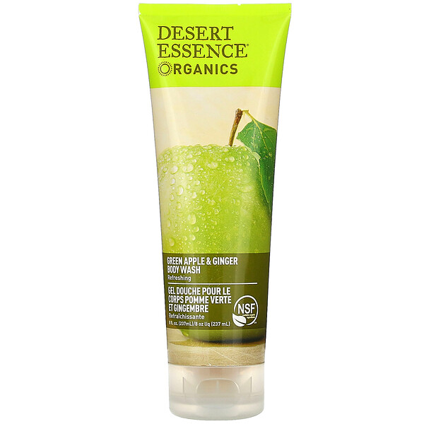 Organics, Body Wash, Green Apple & Ginger, 8 fl oz (237 ml)