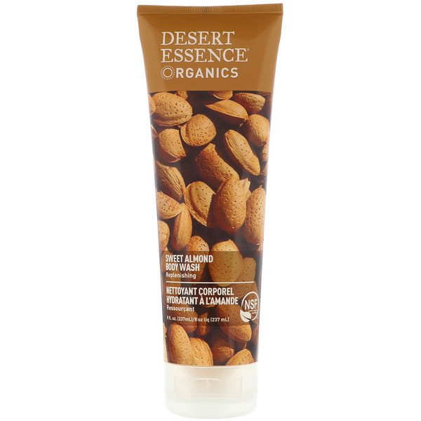 Desert Essence, Organics, Body Wash, Sweet Almond, 8 fl oz (237 ml)
