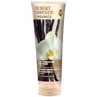 Desert Essence, Organics, Body Wash, Spicy Vanilla Chai, 8 fl oz (237 ml)