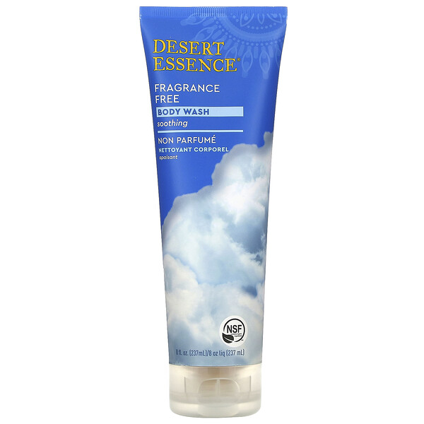 Organics, Body Wash, Fragrance Free, 8 fl oz (237 ml)