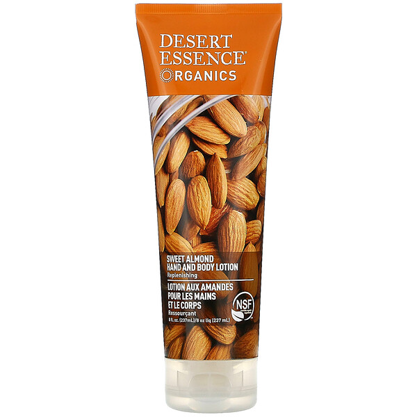 Desert Essence, Organics, Hand and Body Lotion, Sweet Almond, 8 fl oz (237 ml)