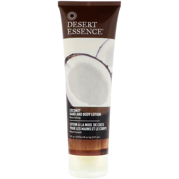 Desert Essence, Hand and Body Lotion, Coconut, 8 fl oz (237 ml)