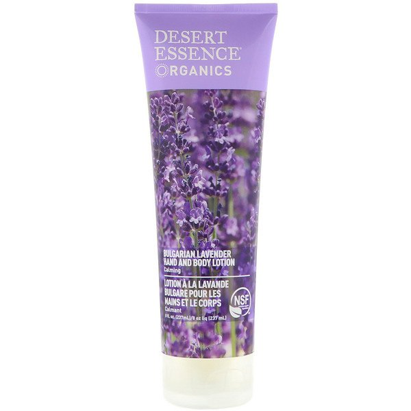 Desert Essence, Organics, Hand and Body Lotion, Bulgarian Lavender, 8 fl oz (237 ml)