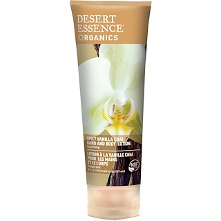 Desert Essence, Organics, Hand and Body Lotion, Spicy Vanilla Chai, 8 fl oz (237 ml)