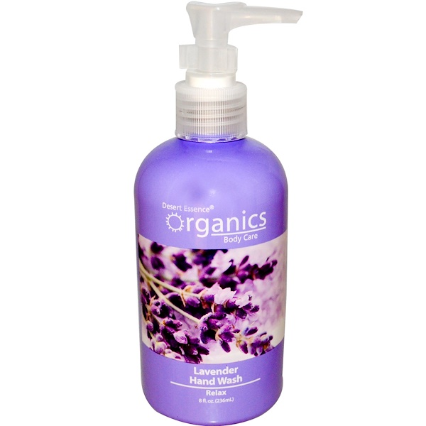 Desert Essence, Organics Body Care, Hand Wash, Lavender, 8 fl oz (236 ml) (Discontinued Item)
