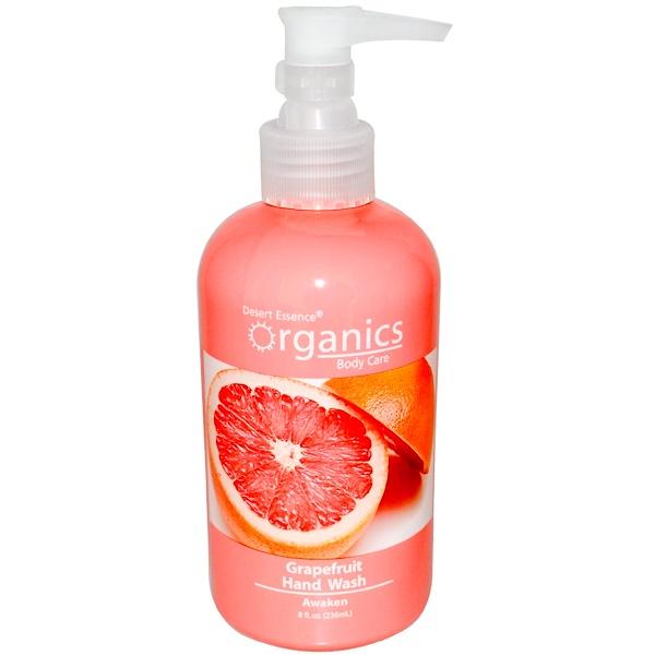Desert Essence, Organics, Body Care, Hand Wash, Grapefruit, 8 fl oz (236 ml) (Discontinued Item)