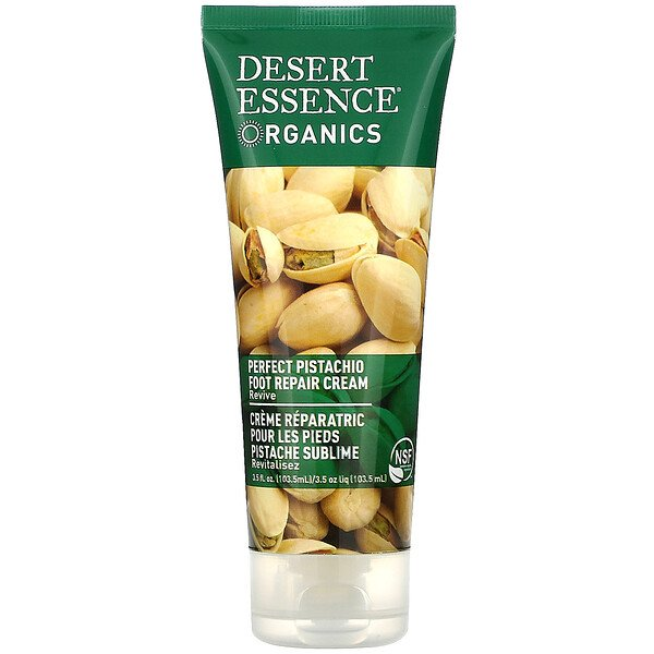 Desert Essence, Organics, Foot Repair Cream, Perfect Pistachio, 3.5 fl oz (103.5 ml)