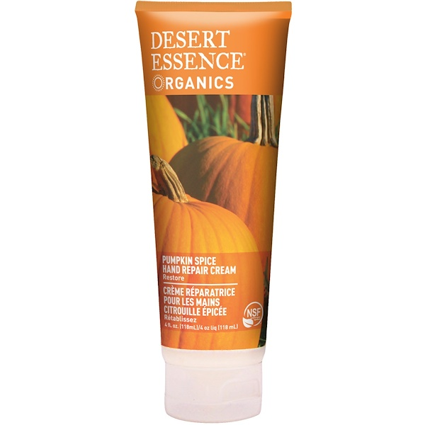 Desert Essence, Organics, Hand Repair Cream, Pumpkin Spice, 4 fl oz (118 ml)