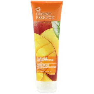 Desert Essence, Loción para cuerpo y manos, mango isleño, 237 ml (8 fl oz)