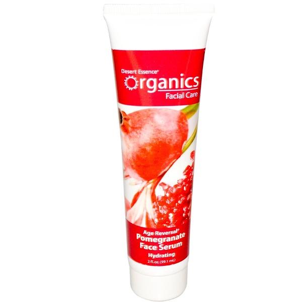 Desert Essence, Organics Facial Care, Age Reversal Pomegranate Face Serum, Step 2, 2 fl oz (59.1 ml) (Discontinued Item)