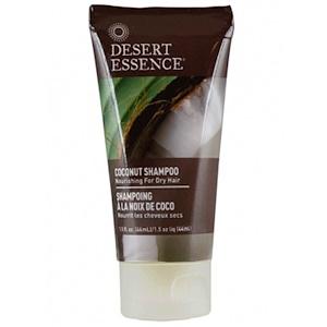 Desert Essence, Компактный размер, Шампунь с кокосовым маслом, 1,5 жидкой унции (44 мл)