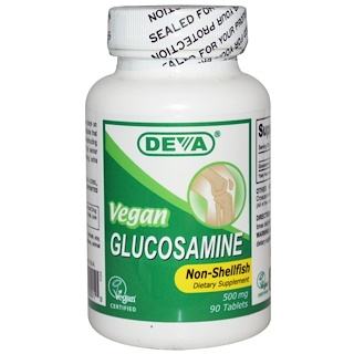 Deva, Vegan, Glucosamine, Non-Shellfish, 500 mg, 90 Tablets