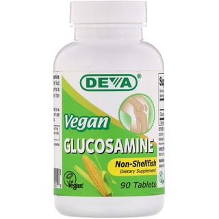 Deva, Glucosamine, Vegan , 90 Tablets