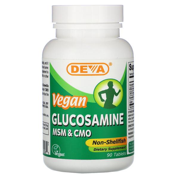 Vegan Glucosamine MSM & CMO, 90 Tablets