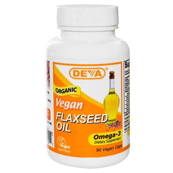 Vegan, Flaxseed Oil, Omega-3, 90 Vegan Caps