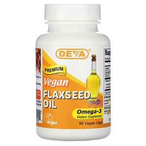 Дева, Premium Vegan Flaxseed Oil, 90 Vegan Caps отзывы покупателей