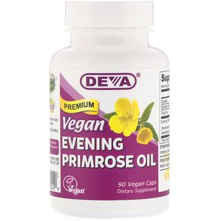 Deva, Huile de primevères Premium végétalienne, 90 capsules végétaliennes