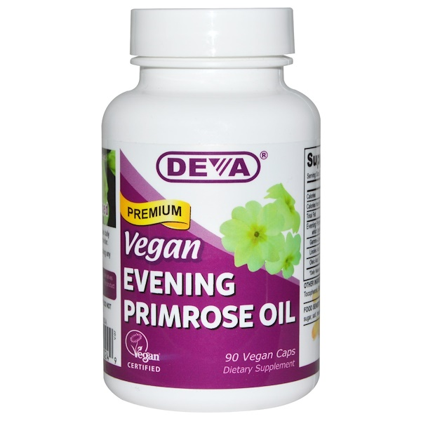 Deva, Vegan, Premium Evening Primrose Oil, 90 Vegan Caps