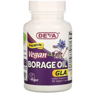 Дева, Premium Vegan Borage Oil, GLA, 90 Vegan Caps отзывы покупателей