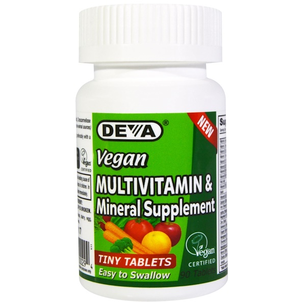 Deva, Vegan, Multivitamin & Mineral Supplement, Tiny Tablets, 90 Tablets