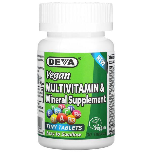 Vegan Multivitamin & Mineral Supplement, 90 Tablets