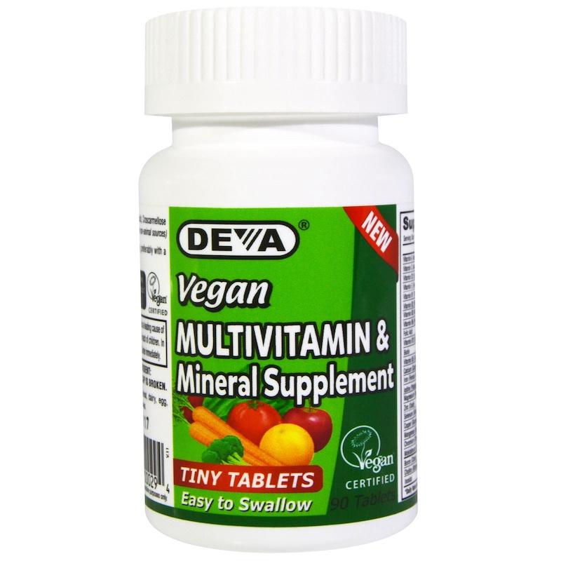 Deva, Vegan, Multivitamin & Mineral Supplement, Tiny Tablets, 90 Tablets