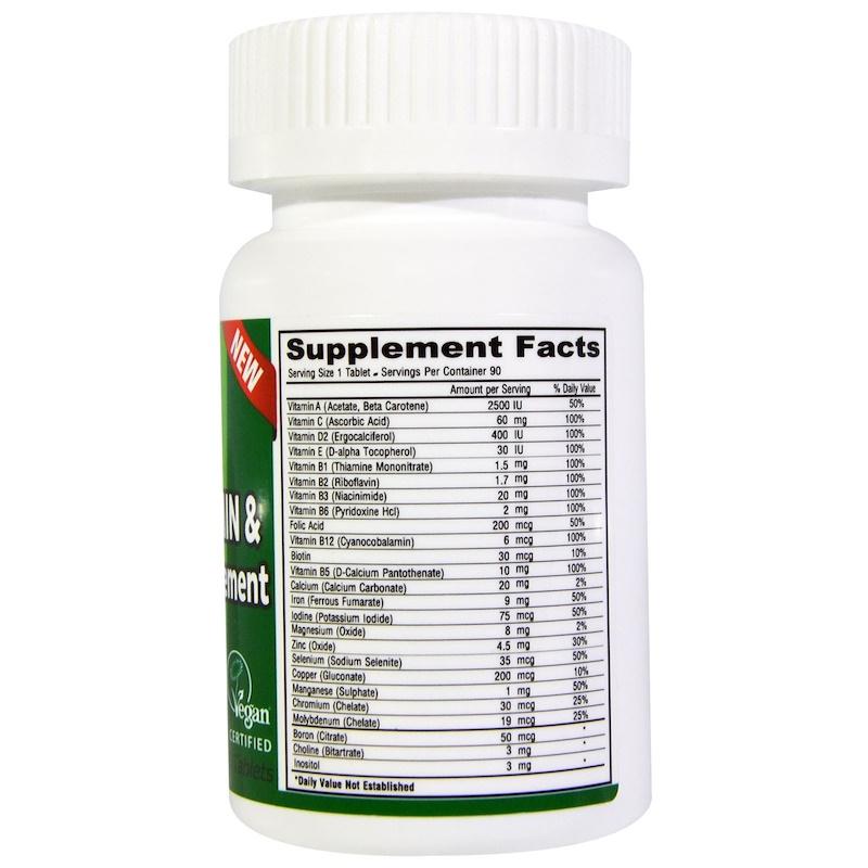 Deva, Vegan, Multivitamin & Mineral Supplement, Tiny Tablets, 90 Tablets - photo 1