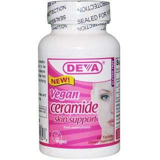Deva, Vegan, Ceramide, Skin Support, 60 Tablets