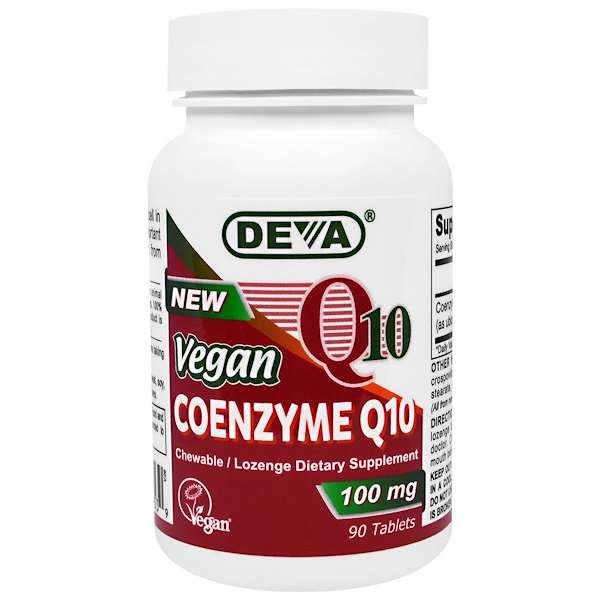 Deva, Vegan, Coenzyme Q10, 100 mg, 90 Tablets