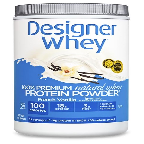 Designer Whey, 100% Premium Natural Whey Protein Powder, French Vanilla, 2 lbs (908 g) (Discontinued Item)