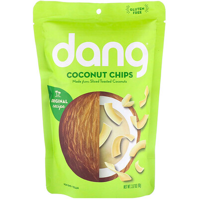 Кокосовые чипсы, 90 г (3,17 унции)