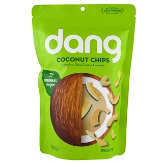 Dang Foods LLC, Coconut Chips, 3.17 oz (90 g)