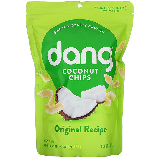Dang, Coconut Chips, Original Recipe, 3.17 oz (90 g)