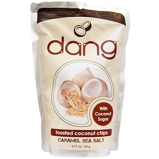 Dang Foods LLC, Toasted Coconut Chips, Caramel Sea Salt, 3.17 oz (90 g)
