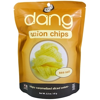 Dang Foods LLC, Onion Chips, Sea Salt, 2.3 oz (65 g)