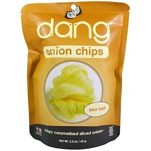 Дэнг Фудс ЛЛС, Onion Chips, Sea Salt, 2.3 oz (65 g) отзывы покупателей