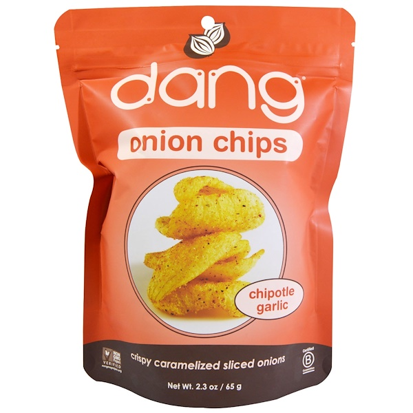 Dang, Onion Chips, Chipotle Garlic, 2.3 oz (65 g) (Discontinued Item)