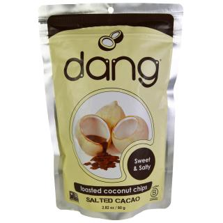 Dang Foods LLC, Coconut Chips, Chocolate Sea Salt, 2.82 oz (80 g)