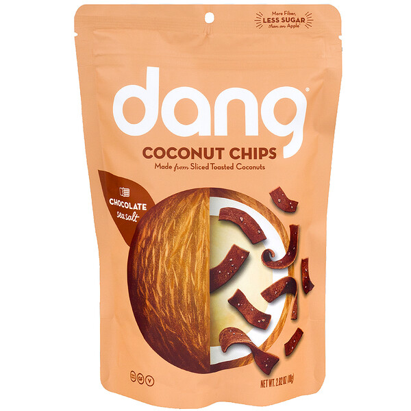 Dang, Coconut Chips, Chocolate Sea Salt, 2.82 oz (80 g) (Discontinued Item)