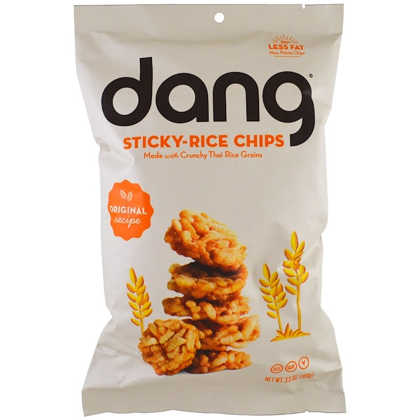 Dang, Sticky-Rice Chips, Original Recipe, 3.5 oz (100 g) (Discontinued Item)